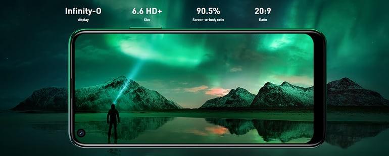 Infinix Note 7 Lite Display and Design
